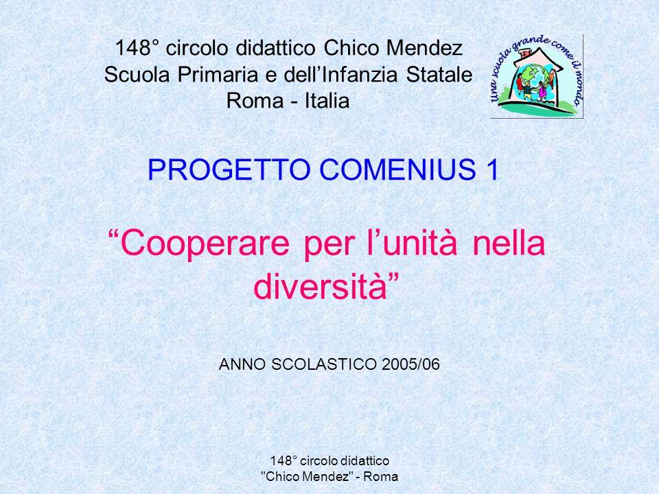 148° circolo didattico Chico Mendez - Roma ISTITUTI PARTECIPANTI Scuola Primaria Chico Mendez Roma - Italia Ecole Maternelle P.