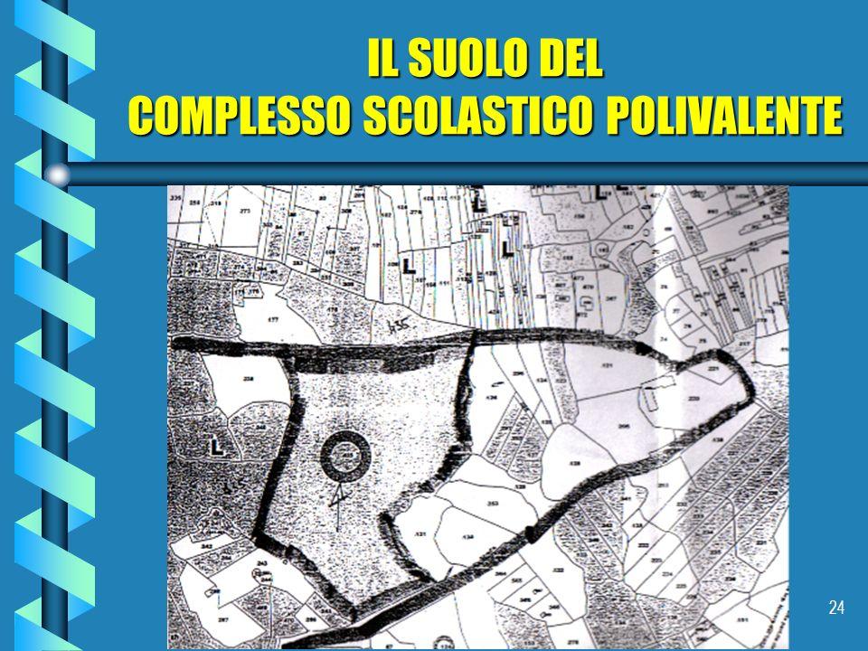 24 IL SUOLO DEL COMPLESSO SCOLASTICO POLIVALENTE