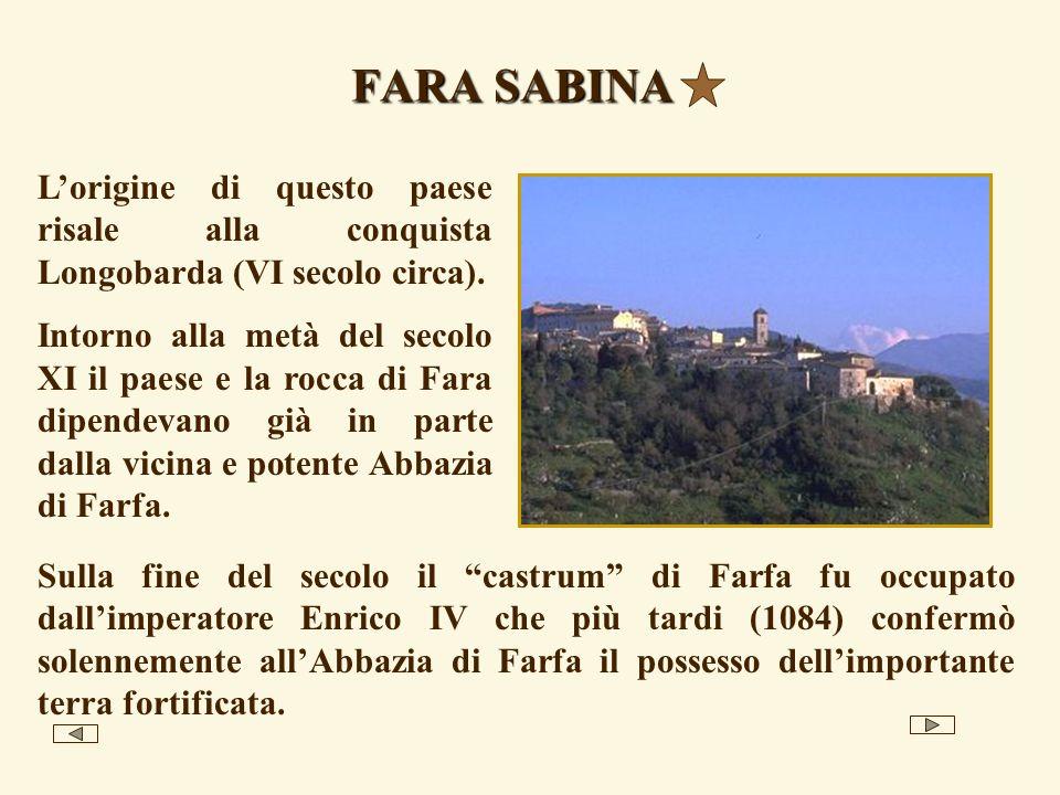 Gran parte del territorio Sabino si estende sulle colline, tra oliveti, vigneti e campi aperti usati per il pascolo o seminati con erba medica, granoturco, girasoli etc.