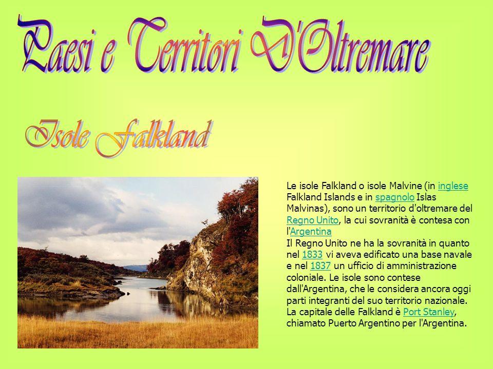 Geografia L arcipelago delle isole Falkland è formato dall isola di Falkland Occidentale (Gran Malvina), dall isola di Falkland Orientale (Soledad) e da circa 200 isole minori, tra cui Sea Lion Island.