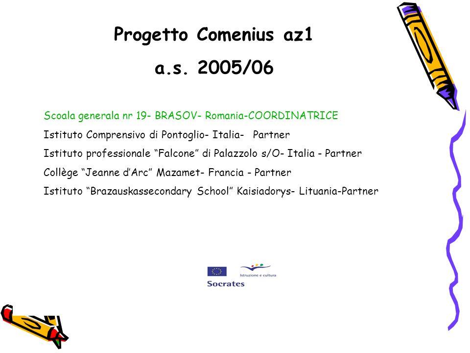 Scoala generala nr 19- BRASOV- Romania-COORDINATRICE Istituto Comprensivo di Pontoglio- Italia- Partner Istituto professionale Falcone di Palazzolo s/