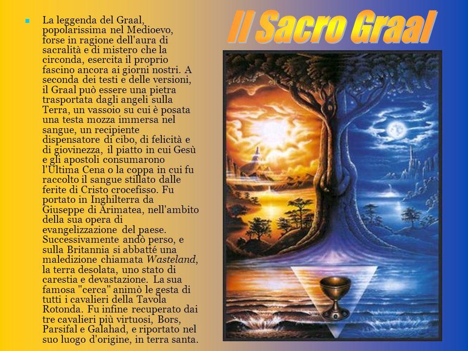 La leggenda del Graal, popolarissima nel Medioevo, forse in ragione dell'aura di sacralità e di mistero che la circonda, esercita il proprio fascino a