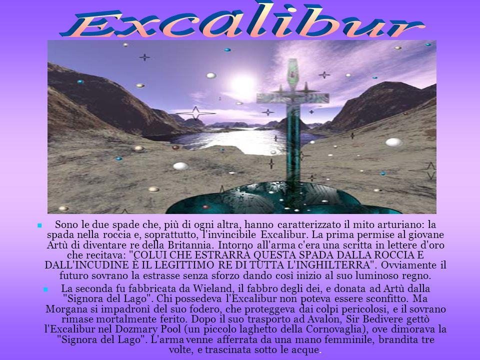 Sono le due spade che, più di ogni altra, hanno caratterizzato il mito arturiano: la spada nella roccia e, soprattutto, l'invincibile Excalibur. La pr