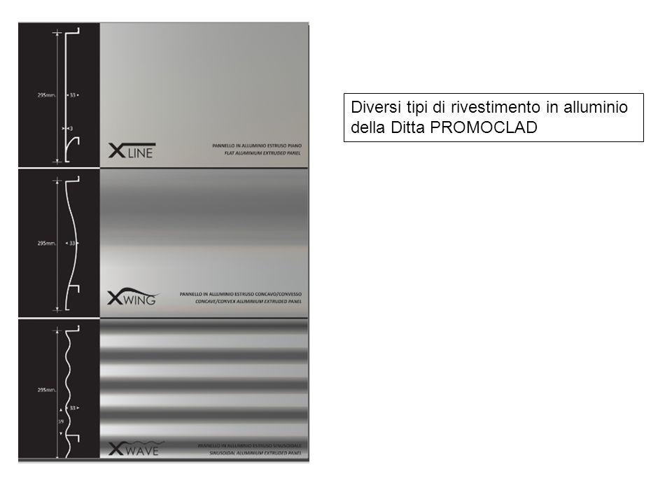 Diversi tipi di rivestimento in alluminio della Ditta PROMOCLAD