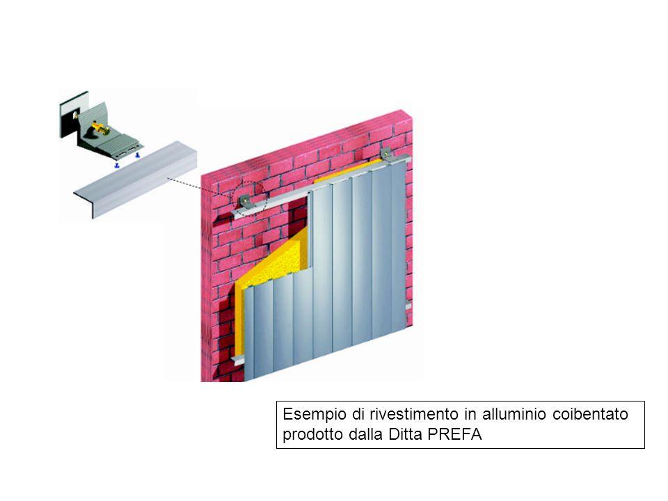 Esempio di rivestimento in alluminio coibentato prodotto dalla Ditta PREFA