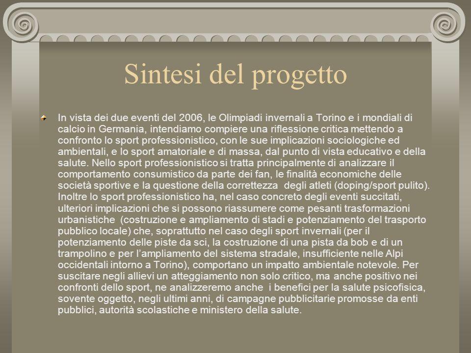 Sport professionistico e amatoriale Progetto Comenius linguistico Comenius-Fremdsprachenprojekt ITCS Blaise Pascal Geschwister-Scholl-Gesamtschule Gia
