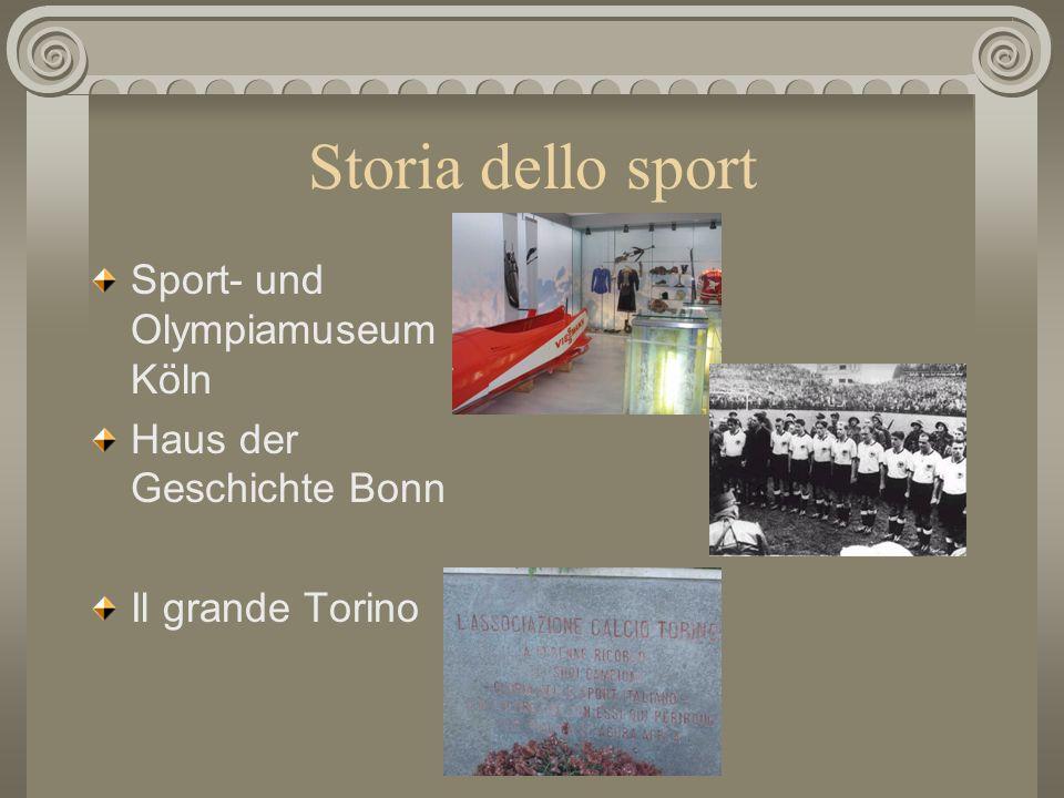 Attività del progetto Storia dello sport Formazione di atleti e professionisti dello sport Sport e salute Impatto ambientale di impianti sportivi Spor