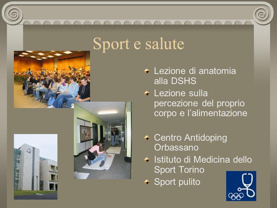 Formazione di atleti e professionisti dello sport Deutsche Sporthochschule Köln Sportinstitut der Universität Düsseldorf Scuola Universitaria Interfac