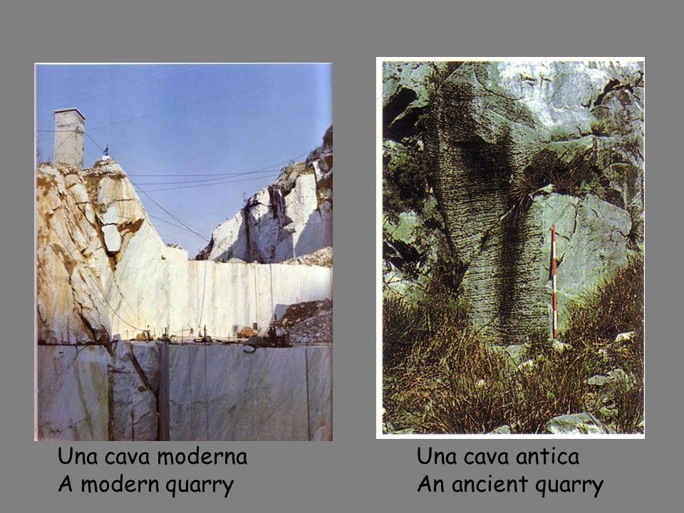 Carta del Mediterraneo con indicazione delle citt à antiche in cui è impiegato il marmo apuano Mao of the Mediterranean showing the ancient towns where marble from Apuanes was used