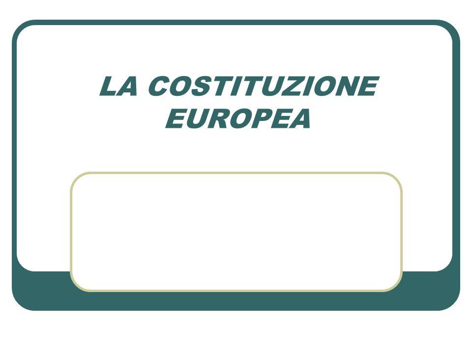 Col termine Costituzione europea si suole chiamare il Trattato che adotta una Costituzione per lEuropa.