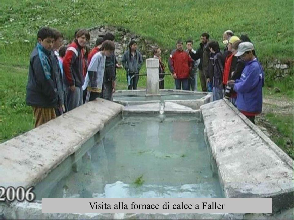 Visita alla fornace di calce a Faller
