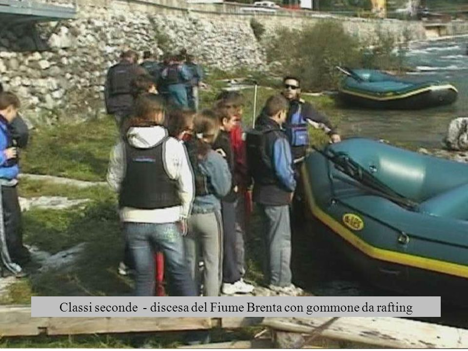 Classi seconde - discesa del Fiume Brenta con gommone da rafting