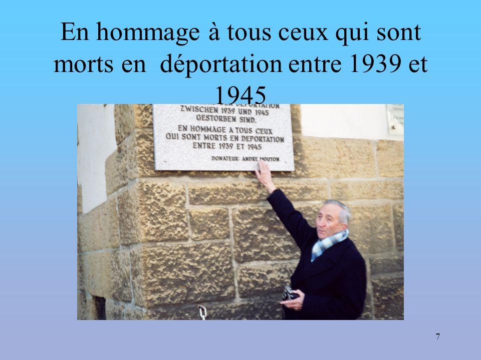 7 En hommage à tous ceux qui sont morts en déportation entre 1939 et 1945