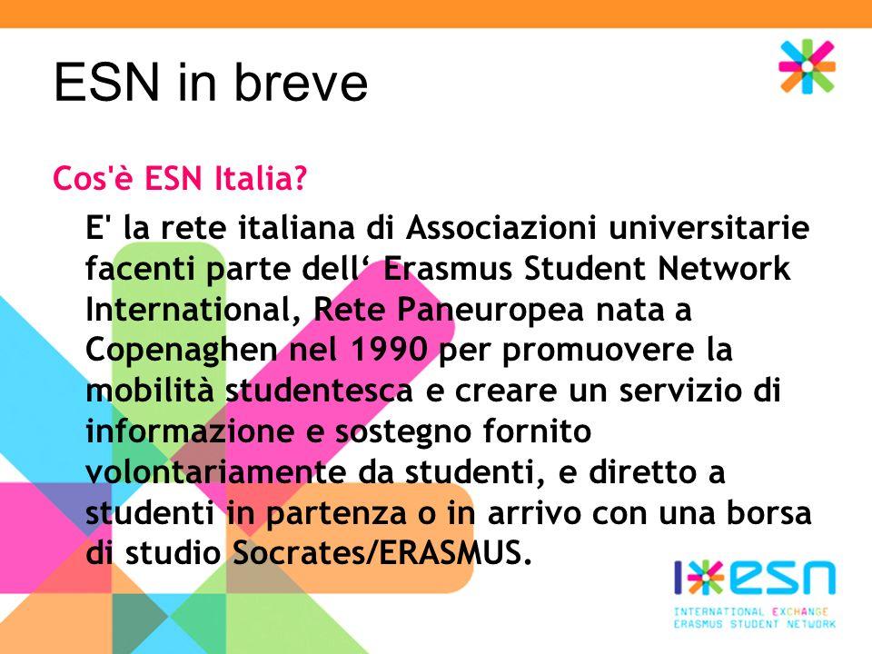 ESN in breve Cos è ESN Italia.
