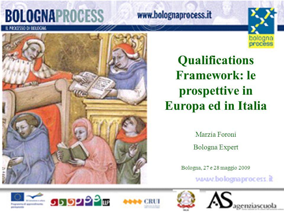 Qualifications Framework: le prospettive in Europa ed in Italia Marzia Foroni Bologna Expert Bologna, 27 e 28 maggio 2009