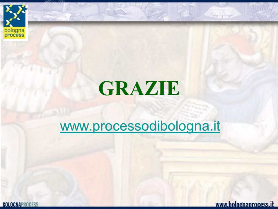 GRAZIE www.processodibologna.it