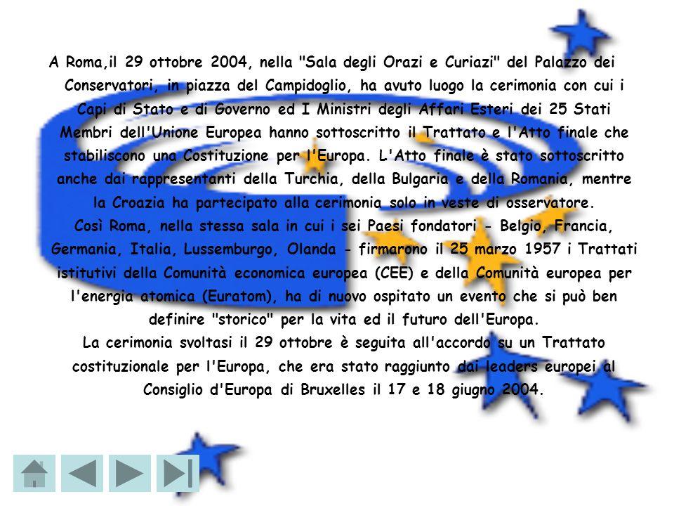 25-26 marzo 2004 - Vertice europeo I leader dei paesi dell Ue, riuniti a Bruxelles, si impegnano formalmente a ricercare un accordo per dare all Unione una Costituzione entro giugno