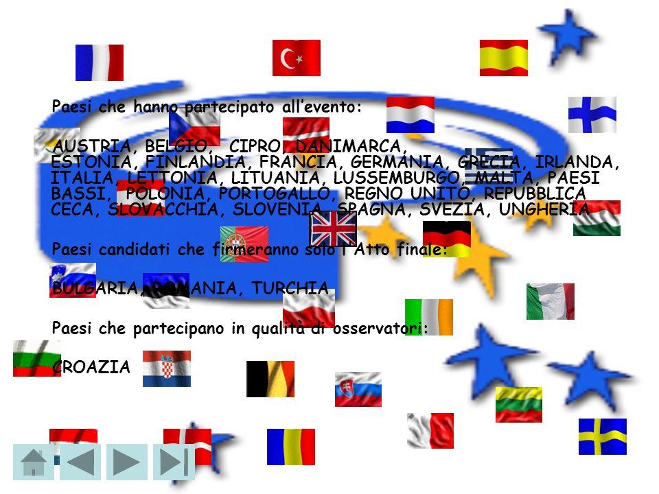 Paesi che hanno partecipato allevento: AUSTRIA, BELGIO, CIPRO, DANIMARCA, ESTONIA, FINLANDIA, FRANCIA, GERMANIA, GRECIA, IRLANDA, ITALIA, LETTONIA, LI