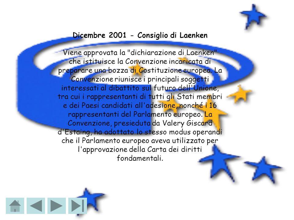 28 febbraio 2002 - inizio dei lavori della Convenzione Nella sede del Parlamento europeo di Bruxelles si tiene la riunione costitutiva della Convenzione.