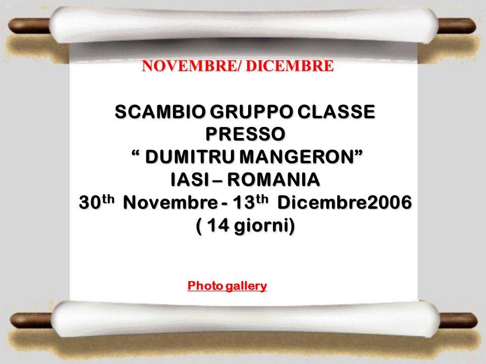 PROGRAMMA LUNEDI 6 /11/06 Mattino: Accoglienza al F.S Cabini ed inizio di lavori del progetto Pomeriggio;: Visita di Taranto Pomeriggio;: Visita di Ta