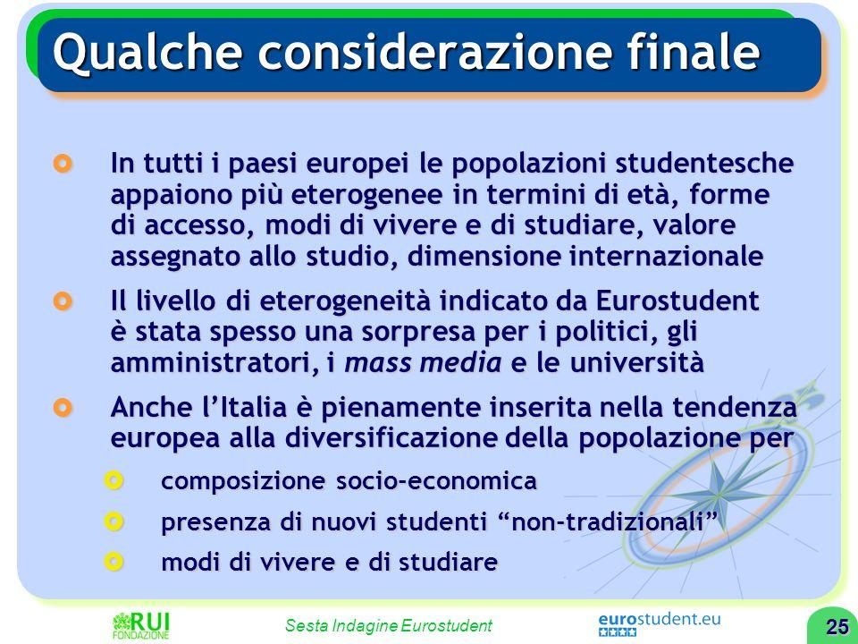 24 Sesta Indagine Eurostudent 24 LIndagine Eurostudent LIndagine Eurostudent Studenti per condizione socio- economica Studenti per condizione socio- e