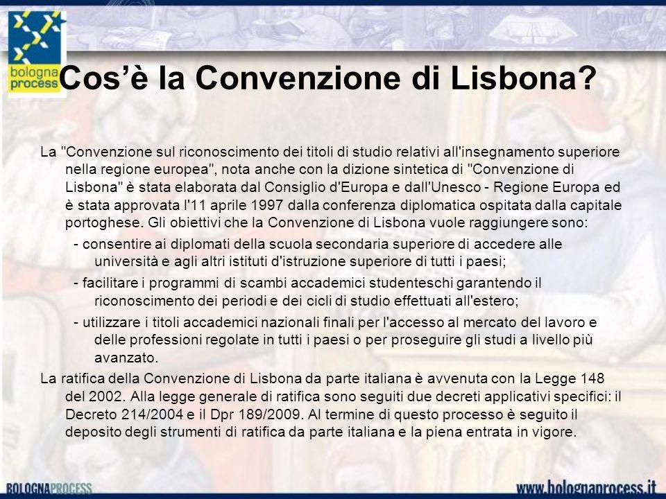 Cosè la Convenzione di Lisbona.