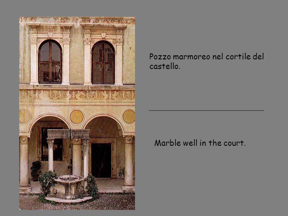 Pozzo marmoreo nel cortile del castello. Marble well in the court.