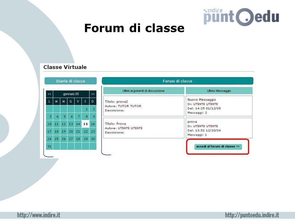 Forum di classe