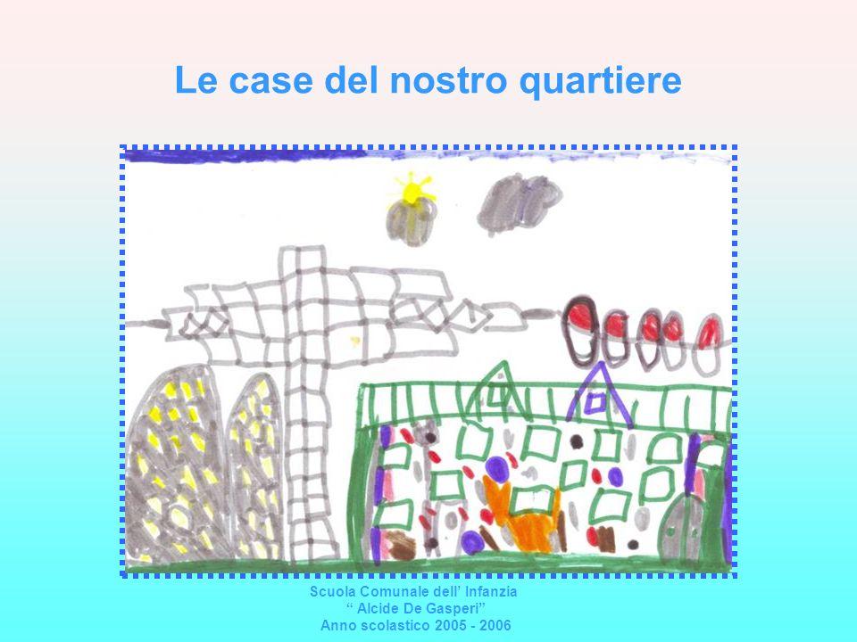 Le case del nostro quartiere Scuola Comunale dell Infanzia Alcide De Gasperi Anno scolastico 2005 - 2006