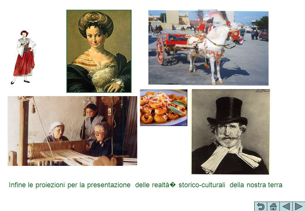 Infine le proiezioni per la presentazione delle realtà storico-culturali della nostra terra