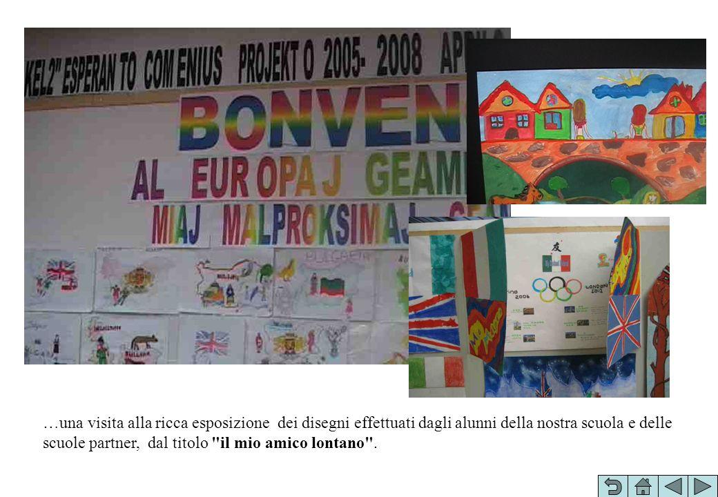 …una visita alla ricca esposizione dei disegni effettuati dagli alunni della nostra scuola e delle scuole partner, dal titolo