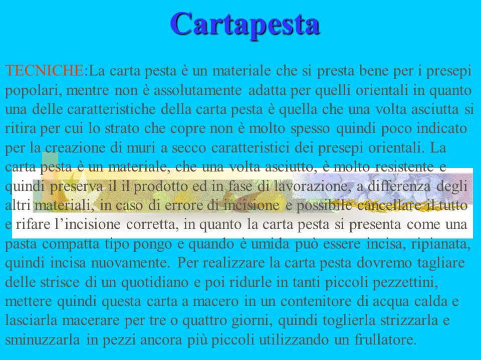 THE RECYCLING OF THE PAPER AND THE CARTAPESTA