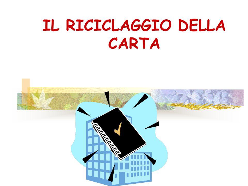 IL RICICLAGGIO DELLA CARTA