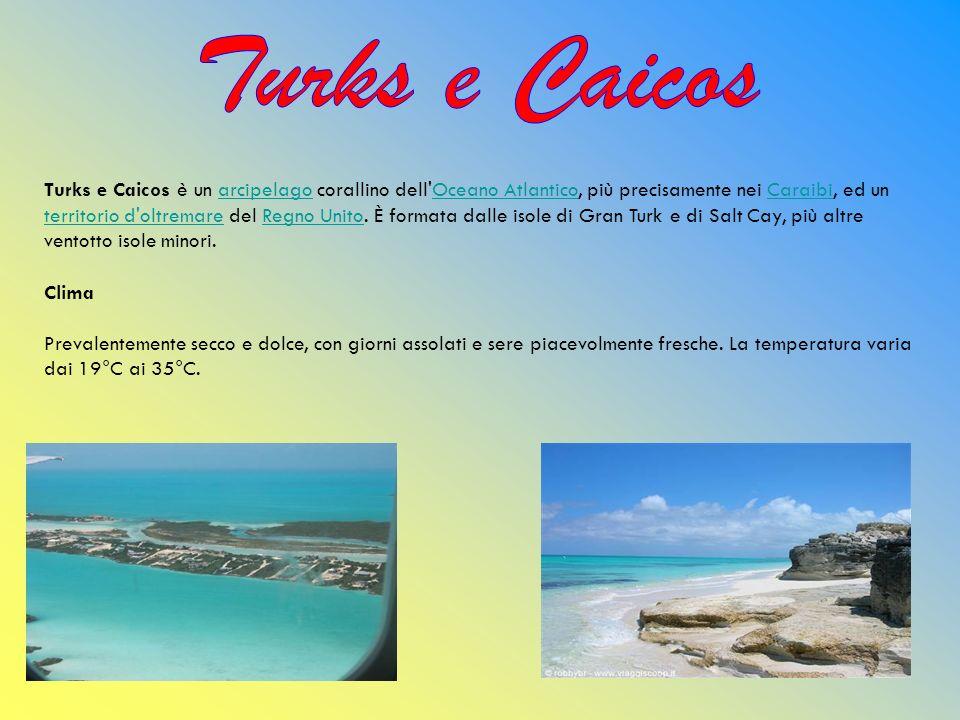 Turks e Caicos è un arcipelago corallino dell'Oceano Atlantico, più precisamente nei Caraibi, ed un territorio d'oltremare del Regno Unito. È formata