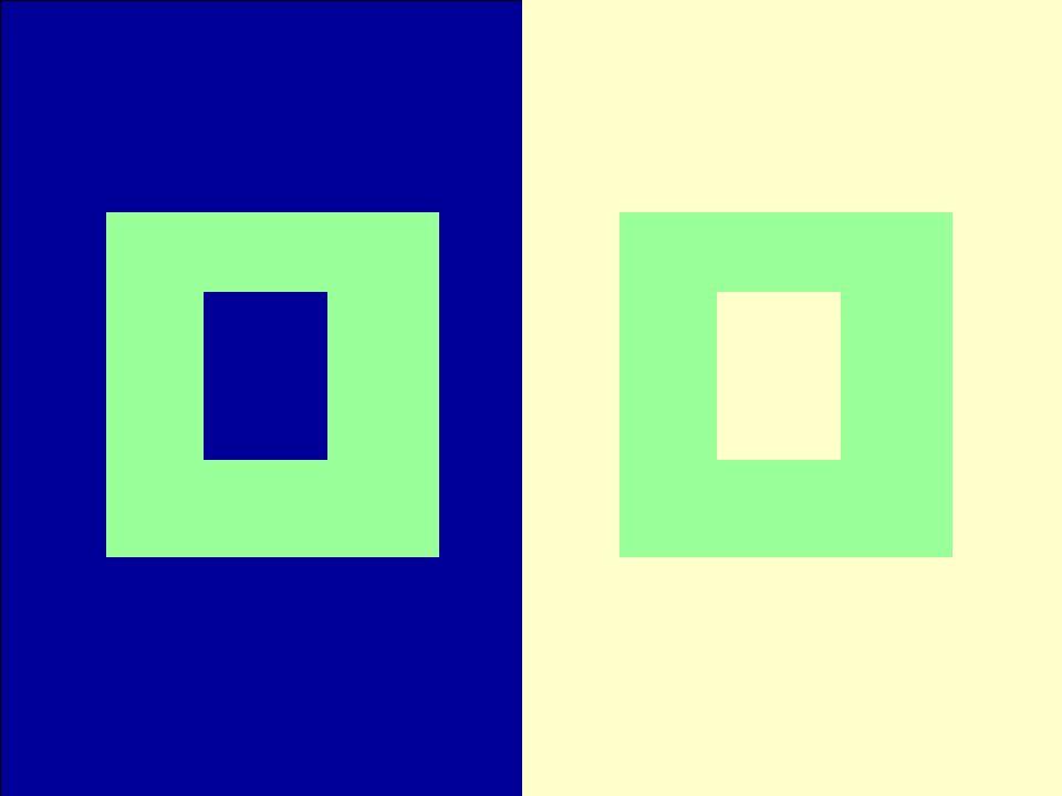 mappaesci Osserva con attenzione la prossima diapositiva. le due cornici verdi sono dello stesso colore?