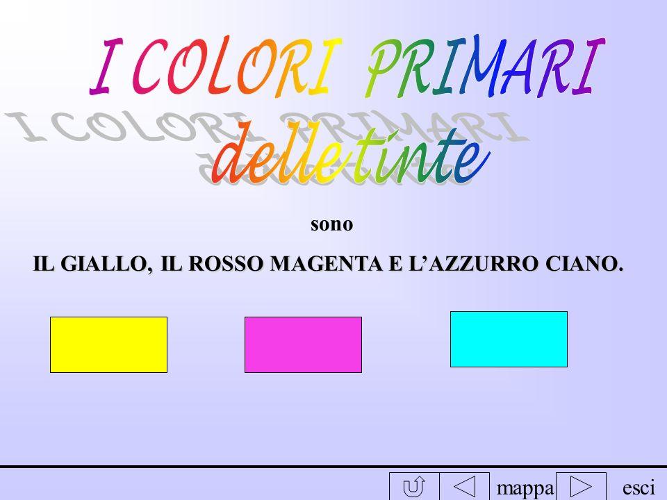mappaesci COLORI PRIMARI : COLORI PRIMARI : non si possono ottenere mescolando altri colori; COLORI SECONDARI : COLORI SECONDARI : si possono ottenere