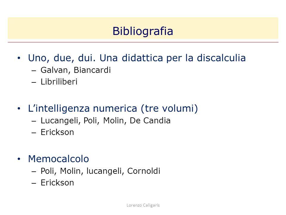 Uno, due, dui. Una didattica per la discalculia – Galvan, Biancardi – Libriliberi Lintelligenza numerica (tre volumi) – Lucangeli, Poli, Molin, De Can