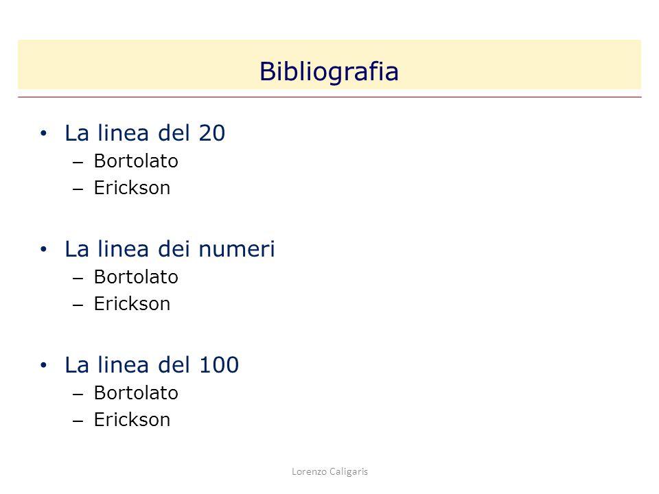 La linea del 20 – Bortolato – Erickson La linea dei numeri – Bortolato – Erickson La linea del 100 – Bortolato – Erickson Bibliografia Lorenzo Caligar