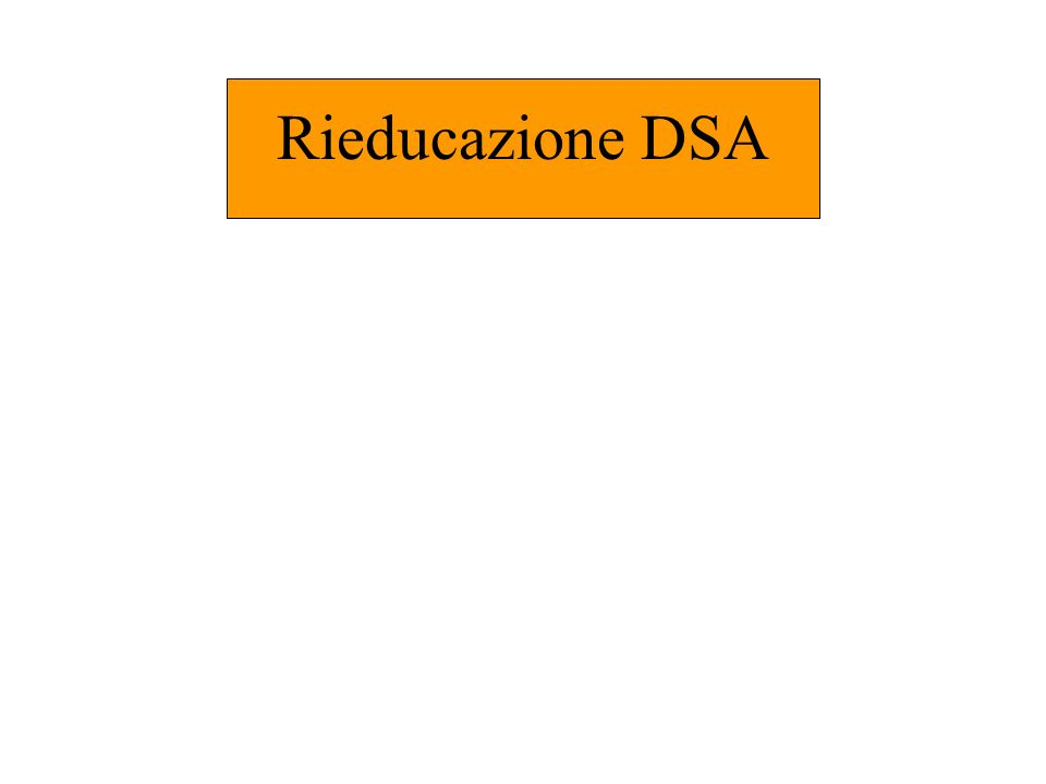 Rieducazione DSA