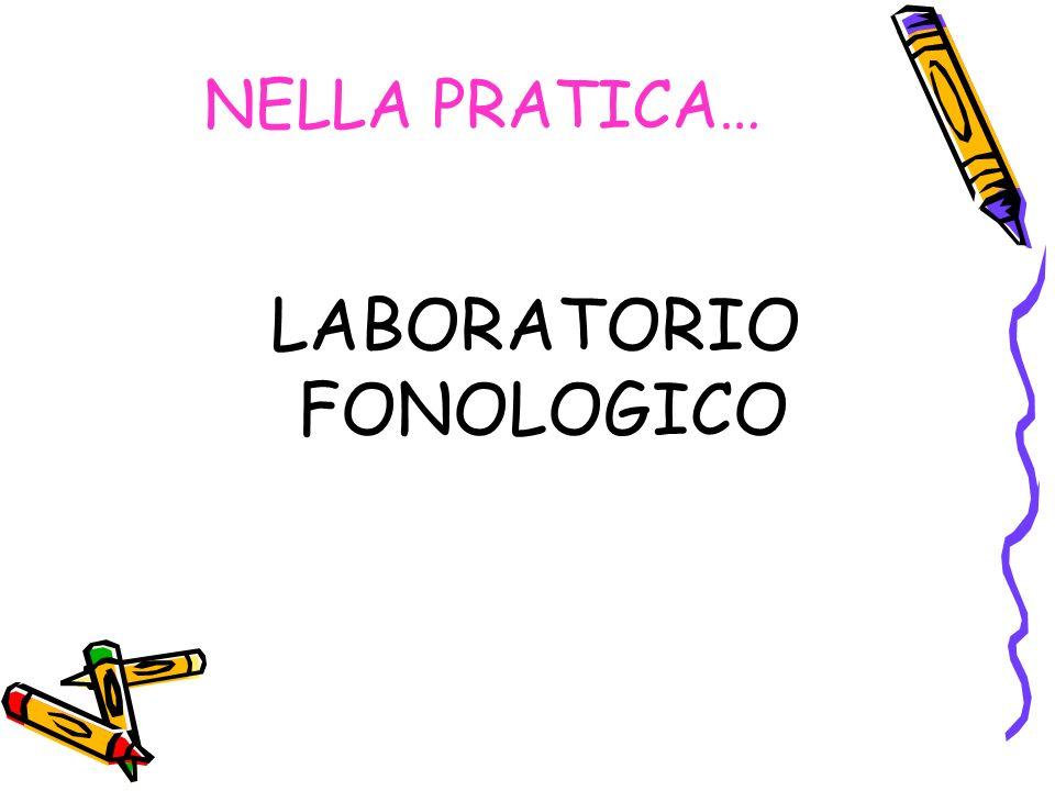 NELLA PRATICA… LABORATORIO FONOLOGICO