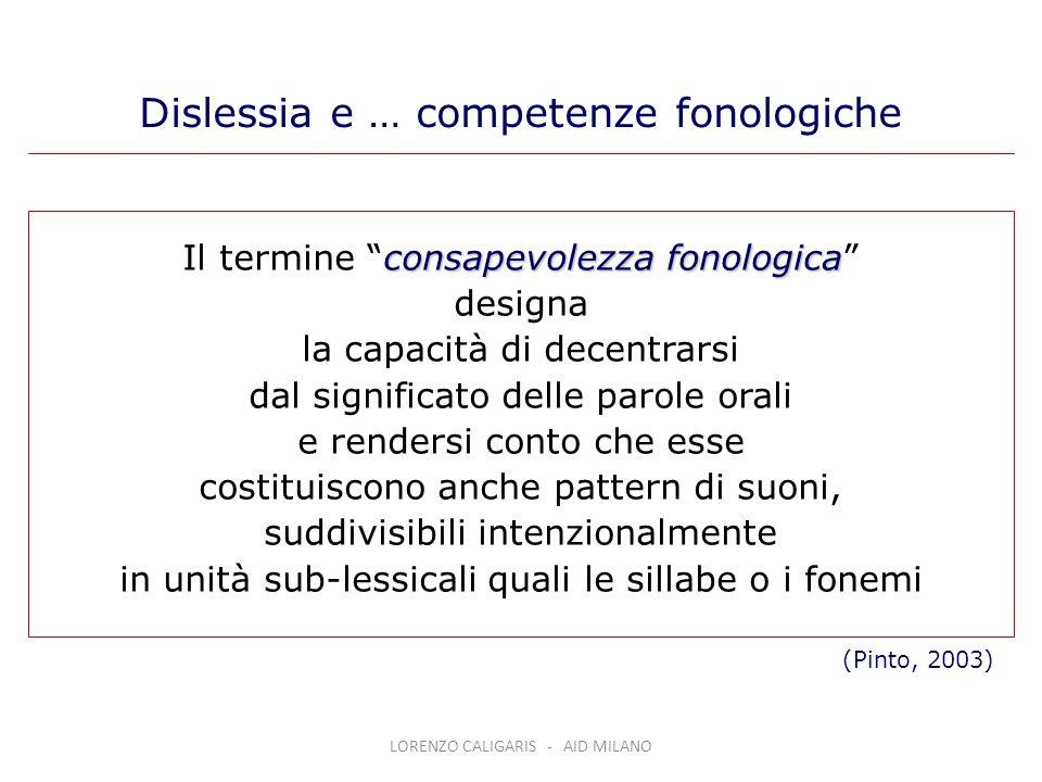 consapevolezza fonologica Il termine consapevolezza fonologica designa la capacità di decentrarsi dal significato delle parole orali e rendersi conto