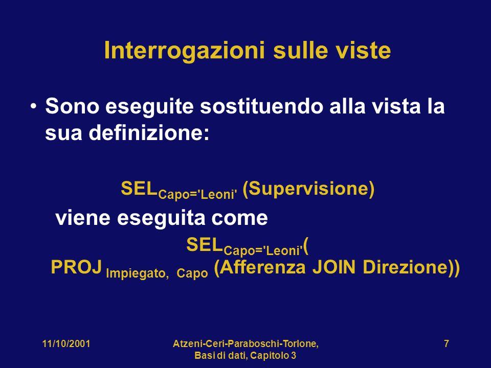 11/10/2001Atzeni-Ceri-Paraboschi-Torlone, Basi di dati, Capitolo 3 38 Chiusura transitiva, come si fa.