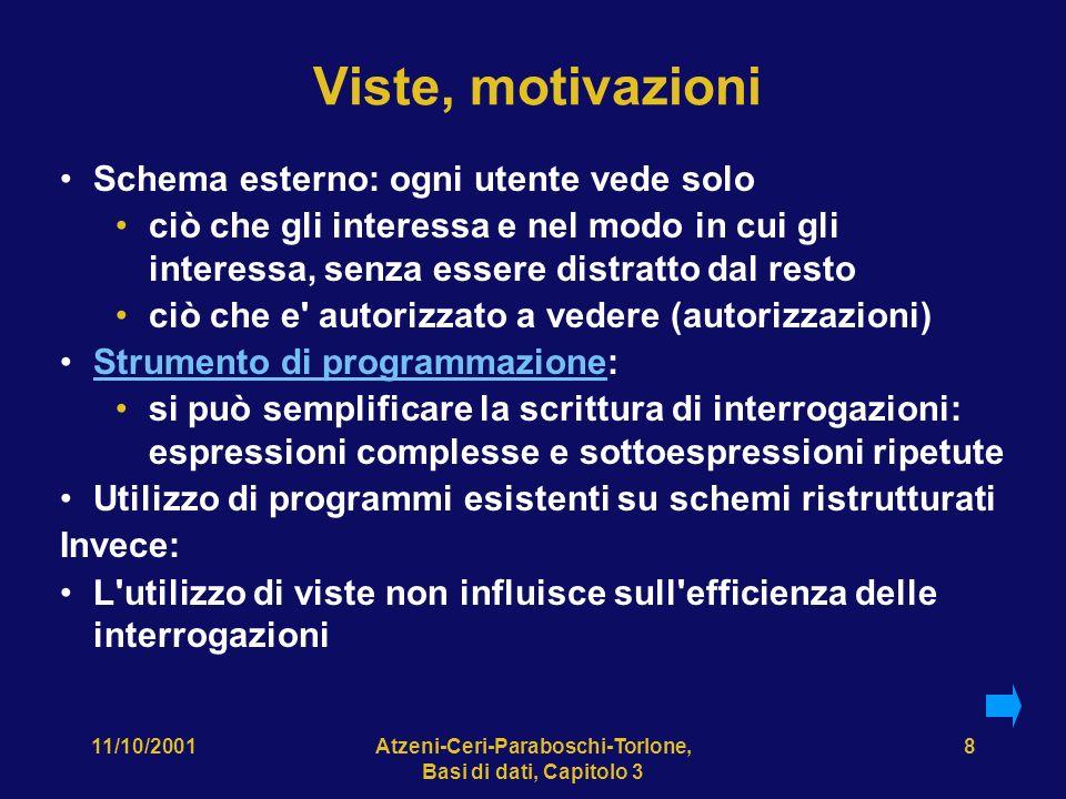 11/10/2001Atzeni-Ceri-Paraboschi-Torlone, Basi di dati, Capitolo 3 39 Chiusura transitiva, impossibile.