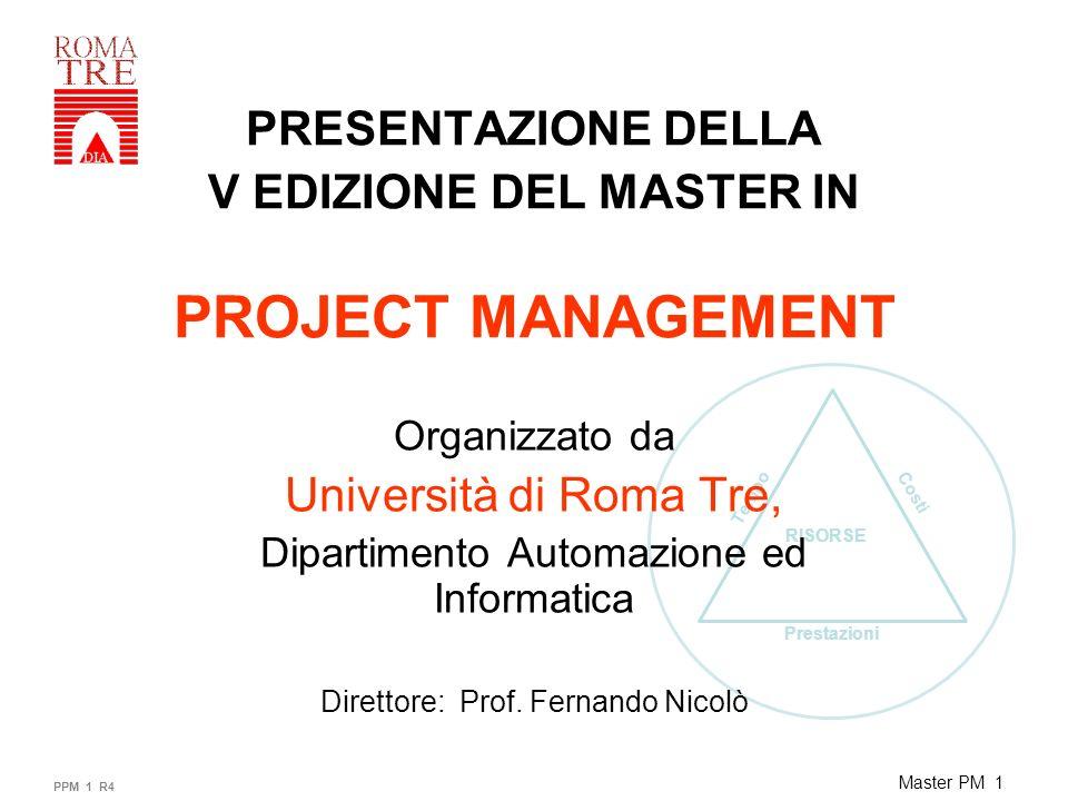 Prestazioni Tempo Costi RISORSE Master PM 2 Perché un Master in Project Management.
