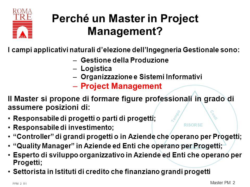 Prestazioni Tempo Costi RISORSE Master PM 3 A chi è rivolto il Master in Project Management .