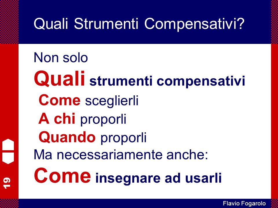19 Flavio Fogarolo Quali Strumenti Compensativi.