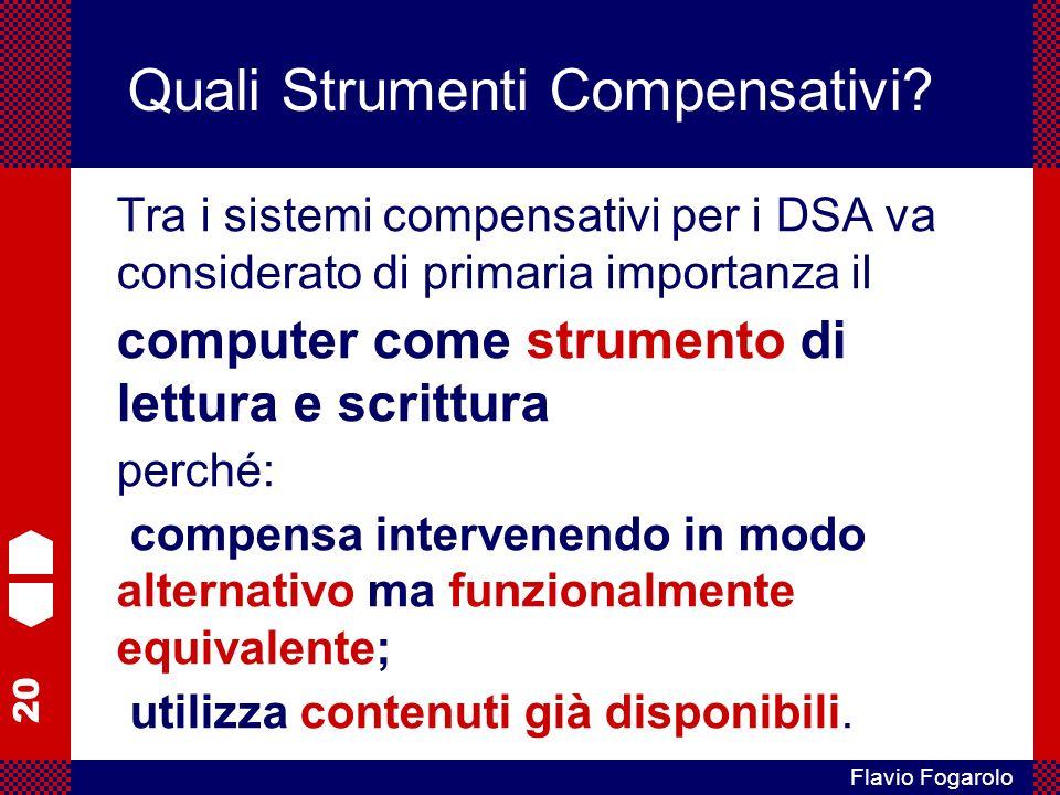 20 Flavio Fogarolo Quali Strumenti Compensativi.