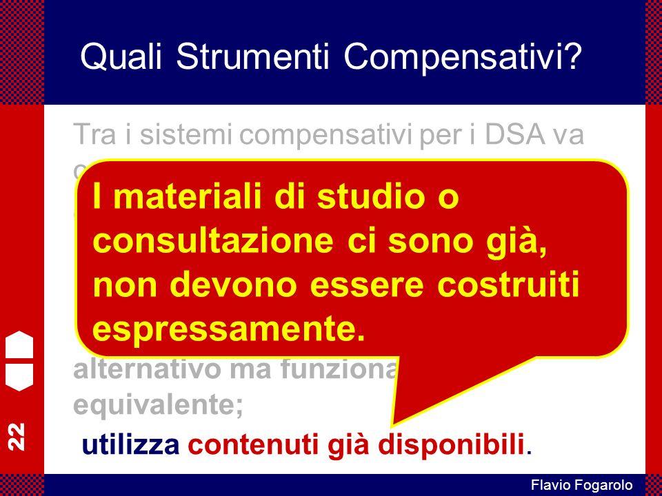 22 Flavio Fogarolo Quali Strumenti Compensativi.