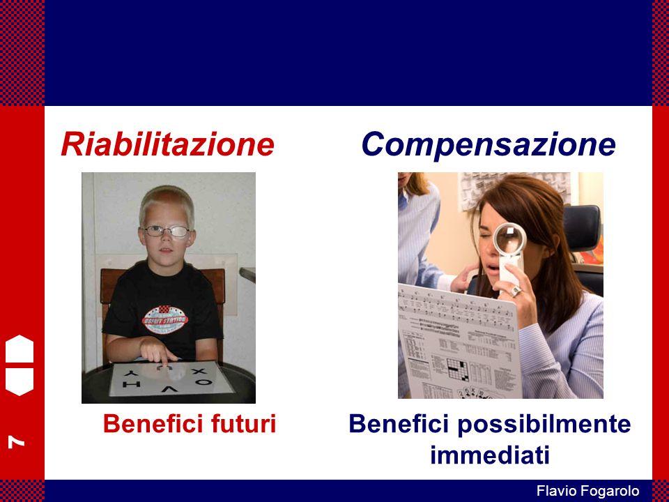 7 Flavio Fogarolo RiabilitazioneCompensazione Benefici futuriBenefici possibilmente immediati