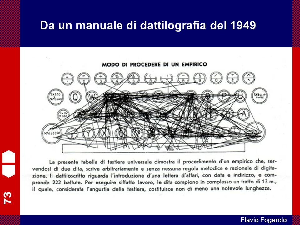 73 Flavio Fogarolo Da un manuale di dattilografia del 1949